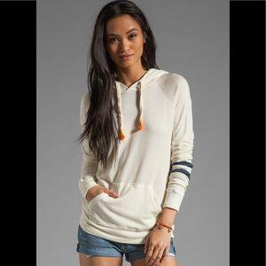 Sundry Stripes Pullover Hoodie Sweatshirt Medium 2